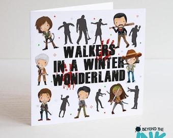 The Walking Dead Christmas Card - TWD - Walkers In A Winter Wonderland