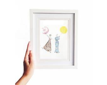 Umbrellas • Art Print   Fashion Illustration