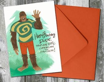 Tiny Bigfeet Bigfoot – Birthday Card