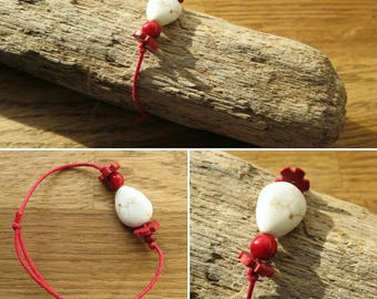 Waxed cotton bracelet 16263