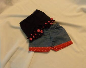 "Shorts for American Girl or 18"" dolls"