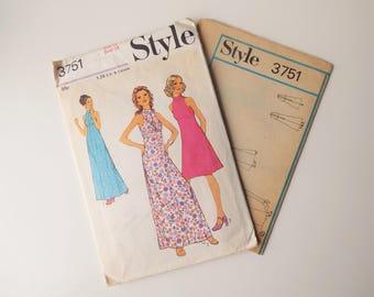 """Style 3571 Vintage Dress Pattern - Size 12/34"""" Bust"""