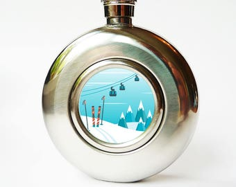 Hip flask - winter and skiing