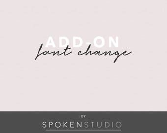 Logo Add-On | Font Change