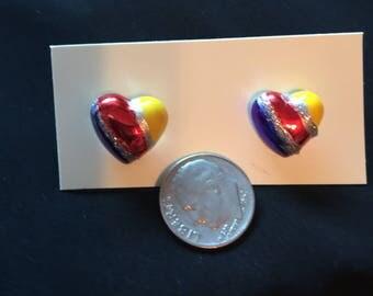 Luvheartart heart Post Earrings