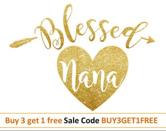 Blessed svg Blessed nana svg Thanksgiving Svg file Grandma cut file Heart Svg Arrow svg Grandmother SVG DXF JPG Png Cricut Silhouette cameo