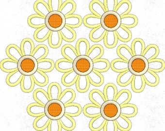 Flower Embroidery Design, Daisy Embroidery Design Pattern File, Machine Embroidery Design, 4x4 Hoop, MULTIPLE FORMATS Download