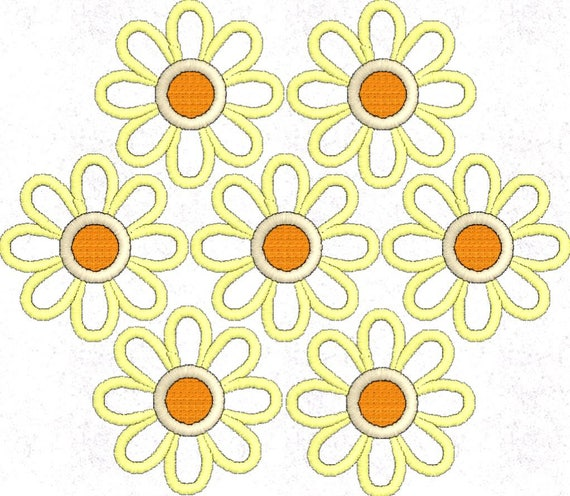 Flower embroidery design daisy pattern