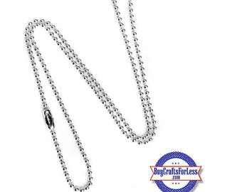 "Ball CHAIN, Silver PLATED, 24"", 2.4mm +FREE SHiPPiNG & Discounts*"
