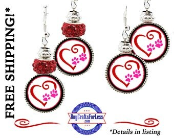 HANDMADE VALENTiNE HEaRT Earrings, Beads, GiFT Box Avail- Best Seller +FREE SHIPPING & Discounts*