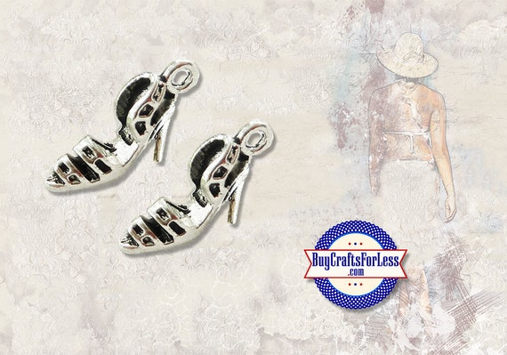 High Heel Dress SHOE Charms, NeW STYLE, 4 pcs +Discounts and FREE Shipping*