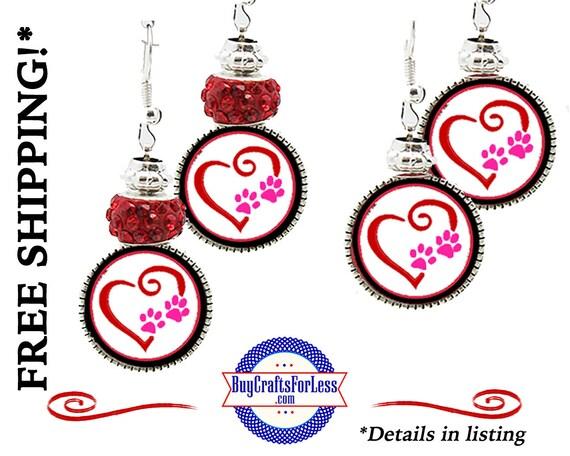 HANDMADE VALENTiNE HEaRT Earrings, Beads, GiFT Box Avail- Best Seller +FREE SHIPPING & Discounts*