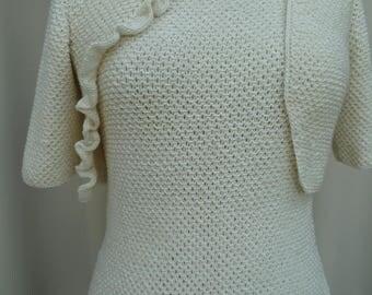 asymmetric short jacket white off