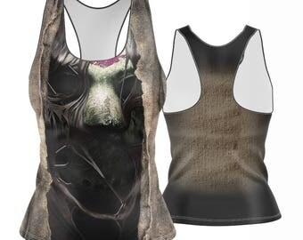 Jason Breakout Racerback | Tank Top | Womens Tank | Gym Shirt | Work Out Tank | Gym Gear | Yoga Top Yoga Shirt Work Out Top XS-5X Halloween