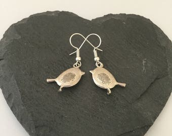Robin earrings / robin jewellery / bird earrings / bird lover gift / animal earrings / animal jewellery / animal lover gift