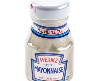6 Ct 1.80oz Mini Mayonnaise Glass Bottles, Mini Bottles, Favors, Party, Condiments, Food Jars, Condiment Bottles, Mini Bottles, Party Favor