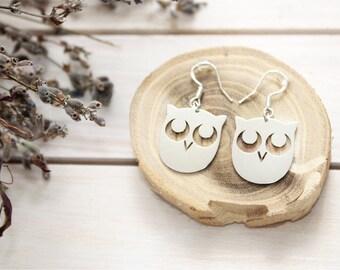 """Earrings """"Awakened Owl!"""""""