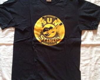 Sun Records Merchandise T-Shirt | Medium Sz | Black | Gently Used
