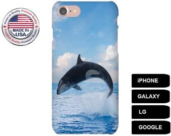 Whale Phone Case, Phone Case Whale, Whale iPhone Case, Orca Whale, Case for iPhone 5, Case for iPhone 6, Case for iPhone 7, Galaxy S7 Case