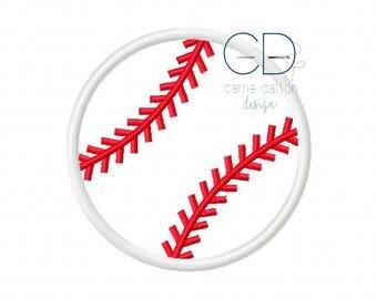 Baseball Applique Design, Baseball Embroidery Design, Softball