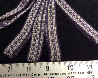 Hand woven, 100% cotton inkle trim.