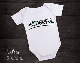 Onederful // First Birthday bodysuit // First Birthday Outfit
