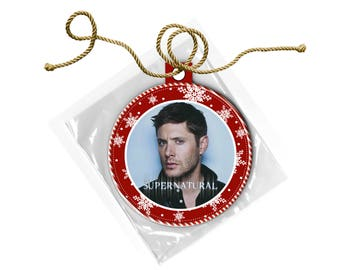 Supernatural Dean Winchester Jensen Ackles Christmas Ornament