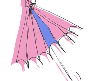 "Sticker ""Where I put my umbrella?"" - stationery, Planner, rain, umbrella, Umbrella, Pastel color, Duet, Brittany, weather, Bujo"