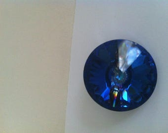 Button has sewing Crystal swarovski 28 mm in diameter