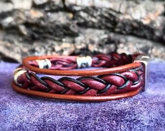 Leather Bohemian Bracelet, Leather Bracelet, Leather Bohemian, Bracelet Braided, Leather