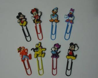 Mickey Paper Clips Minnie Paper Clips Goofy Pluto Daisy Donald Duck Stocking Stuffer Kids Xmas Gifts Office Accessories 8 Disney Paper Clips