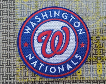 Washington Nationals iron on inspired embroidery patch
