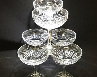 Vintage Crystal Pedestal Dessert Dishes (set of 6)