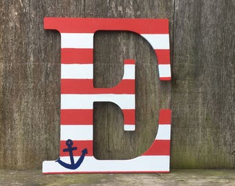 Nautical letters, nautical decor, anchor design, nautical letter, nautical theme, nautical gift, wall decor, home decor, navy gift