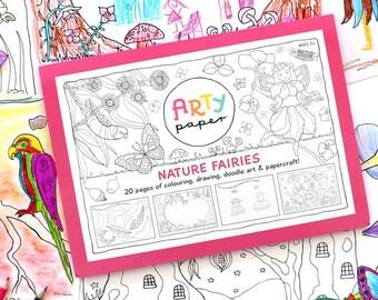 Kids Colouring Folder- Nature Fairies