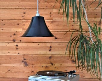 Vinyl Record Retro Lampshade plus Pendant and LED Filament Lamp