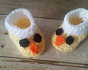 Baby Boys Booties, Chick Baby Shoes Yellow Hat, Chicken Baby Shoes, Boys' Booties, Infant Shoes,  Newborn Baby Booties, Infant Baby