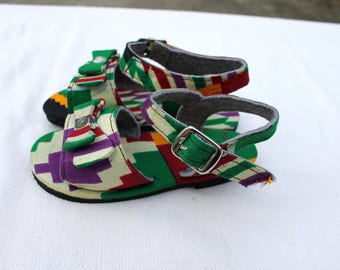 African Printed Baby Sandals