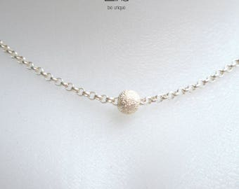 Silver ball necklace - 925 sterling silver