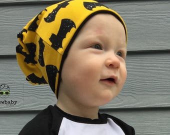 The Bat Reversible Slouchy Beanie (Sizes Preemie-5/6)