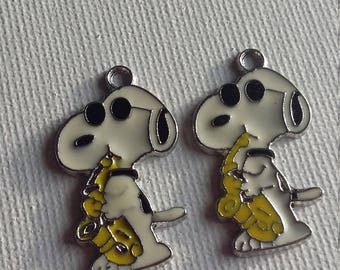 Snoopy set of 2 charms (yellow)