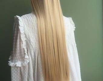 Ash blonde hair etsy 7pcs clip in 22 inches hair extensions like human hair ash blonde full head synthetic pmusecretfo Images