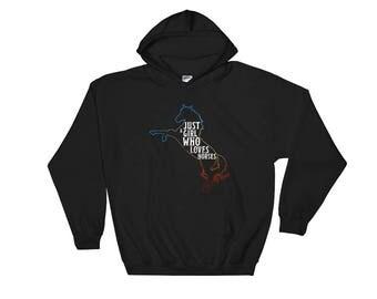 Just A Girl Who Loves Horses Hooded Sweatshirt Hoodie