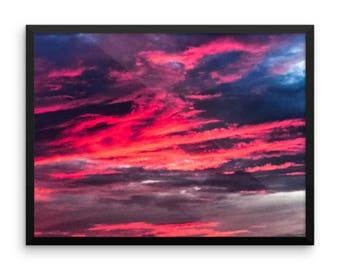 Sunset - Framed photo paper poster