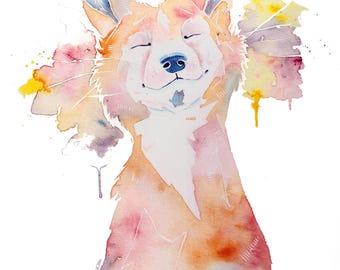 Happy Little Vixen - Print