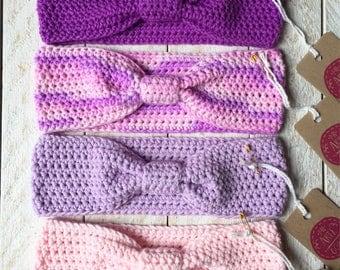 Baby girls crochet head bands