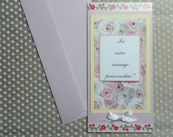 CUSTOMIZABLE card with matching envelope C0001 Roses