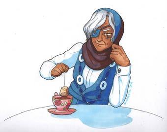 Art Print: Ana's Teatime (A5)