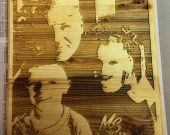 Custom Photo Wood Wall Hanging