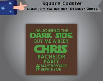 I'm Joining the Dark Side buy me a Beer Square Coaster Can Single Side Print (C-Bach01)